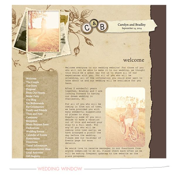 Wedding Window Websites