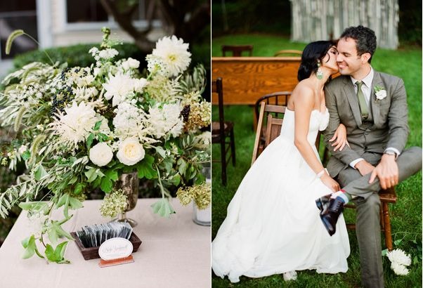 backyard-wedding-centerpieces