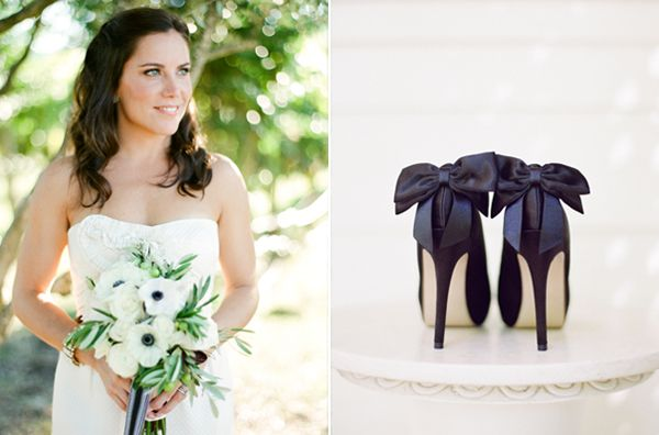 Black Bow Wedding Heels