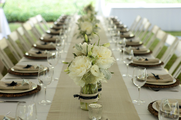 Diy white wedding centerpieces once wed