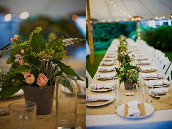 Potted plant wedding centerpieces Once Wed