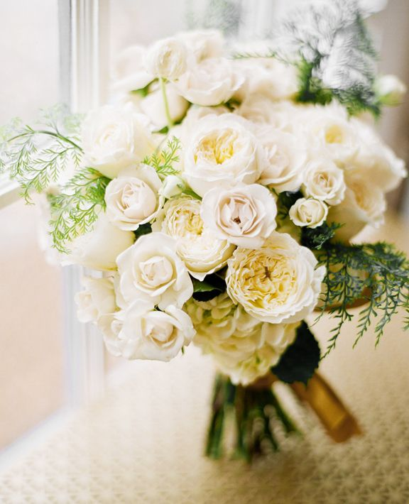 Rose Fern Bouquet Bridal