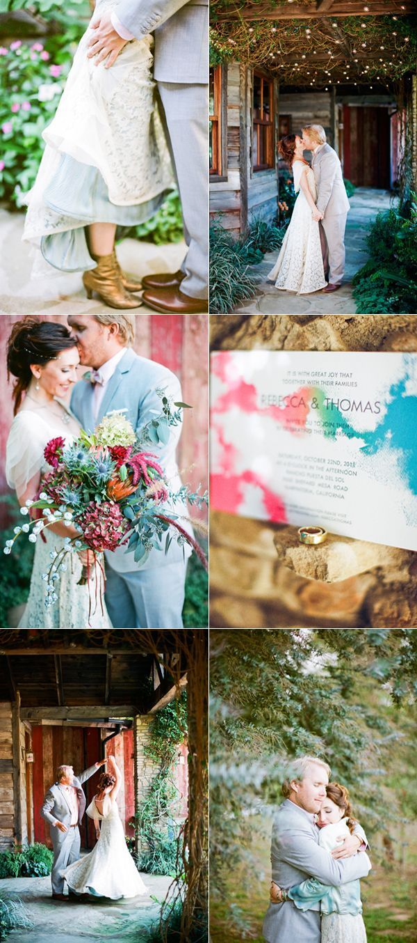 Eclectic Watercolor Wedding