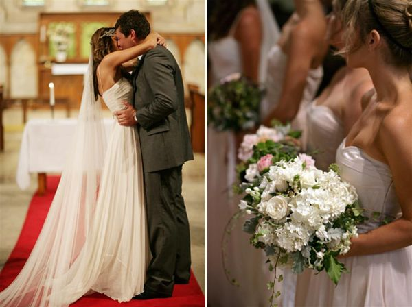 White And Pink Wedding Bouquets