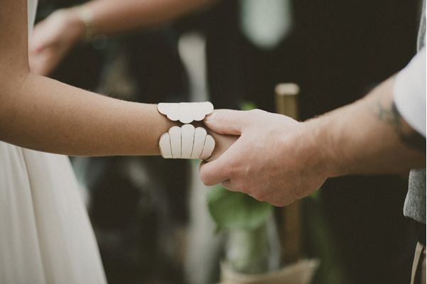 White Wedding Cuff
