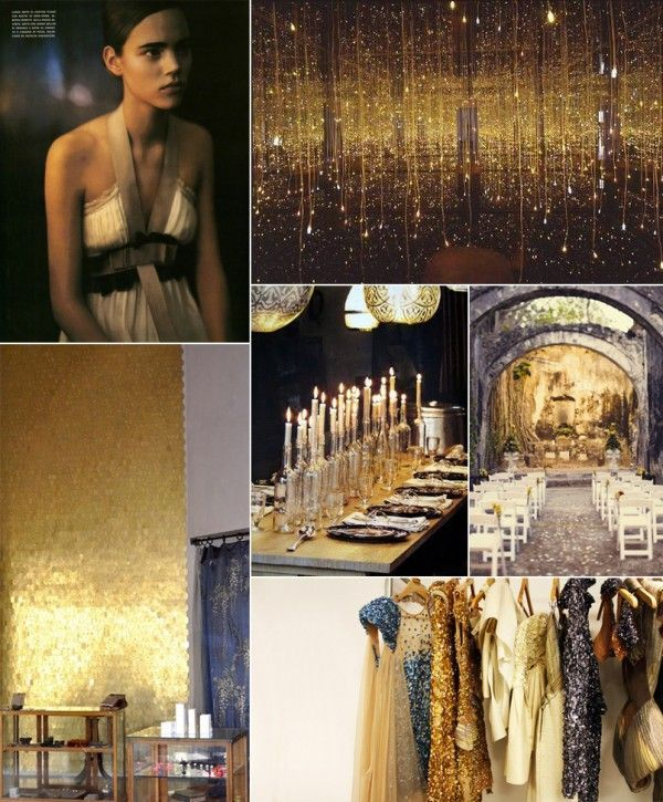 Black And Gold Wedding Decorations: Black And Gold Wedding Ideas