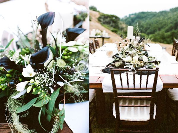 black-and-green-centerpiece-ideas