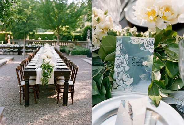 Classic White Wedding Centerpieces