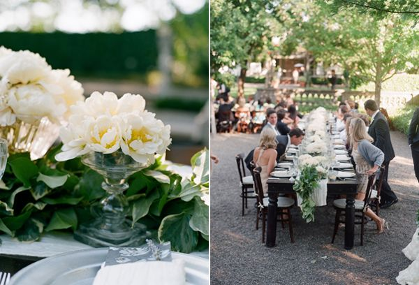 Elegant White Wedding Reception Tables