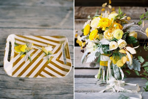 Farm Yellow Wedding Flower Ideas