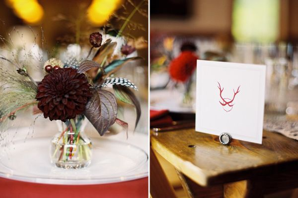Feather Wedding Centerpiece Ideas