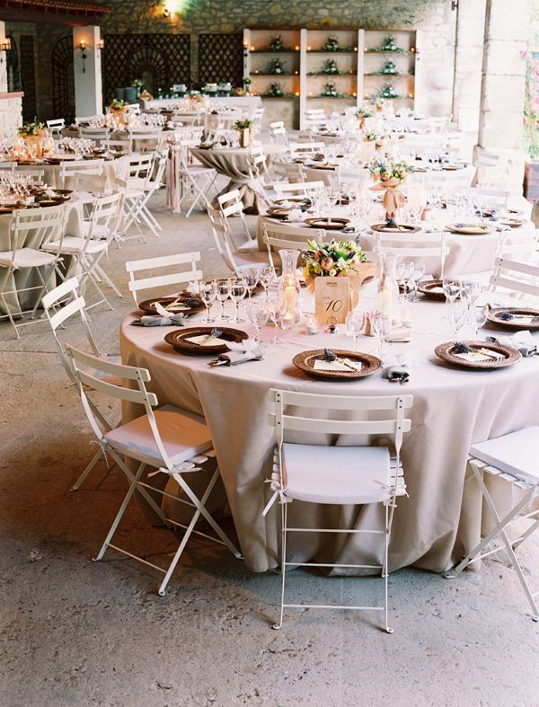 French Wedding Reception Tables