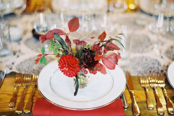 Red Centerpiece Wedding Ideas