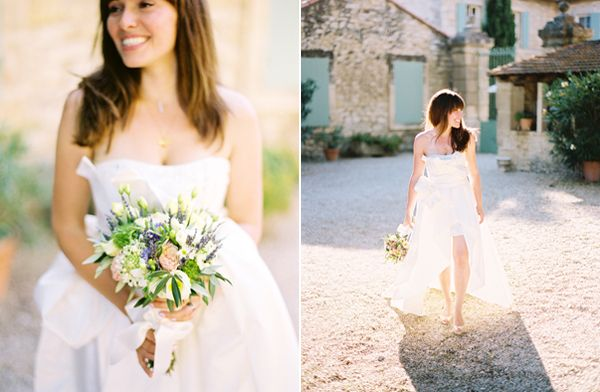 Elegant french countryside wedding once wed for Simple wedding dresses for small wedding