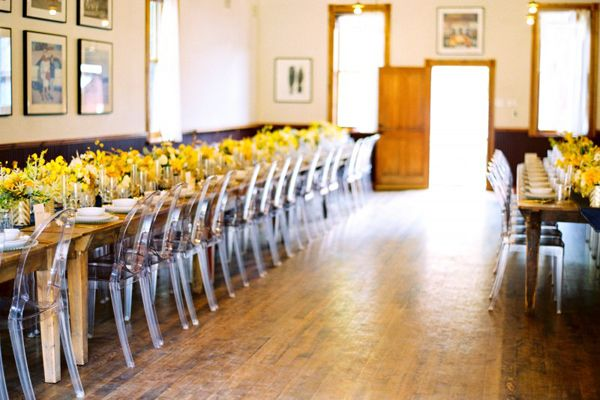 Unique ghost chairs wedding reception ideas once wed for Unique wedding reception decorations