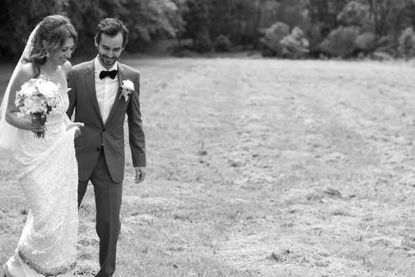 bride-groom-black-white-field