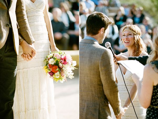 colorful-bouquet-exchanging-vows