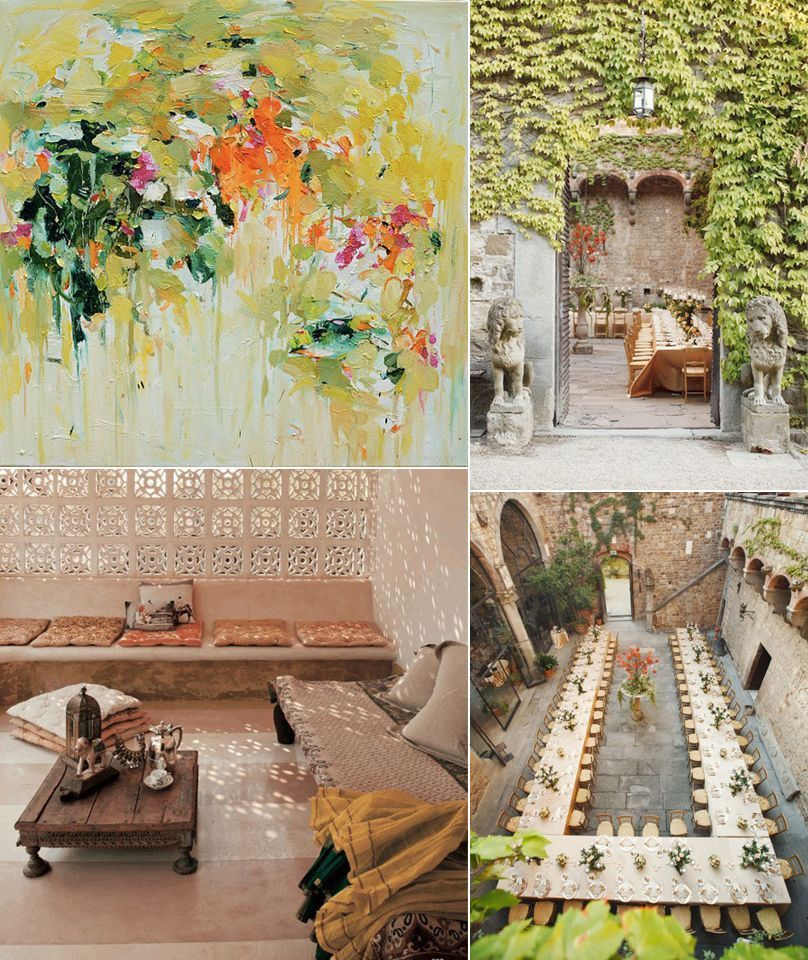 Spring Green, Neutral, and Orange Wedding Ideas
