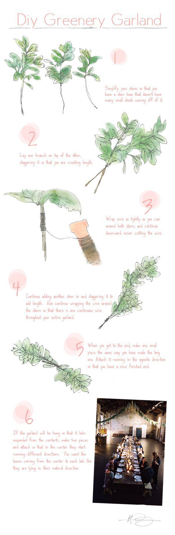 Diy Greenery Garland Once Wed