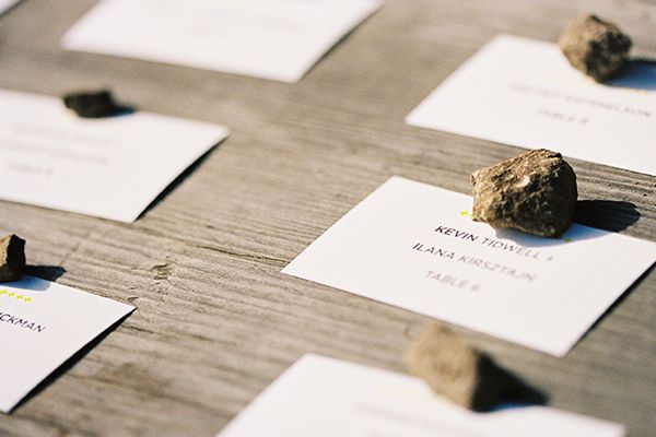 Easy Wedding Escort Card Ideas
