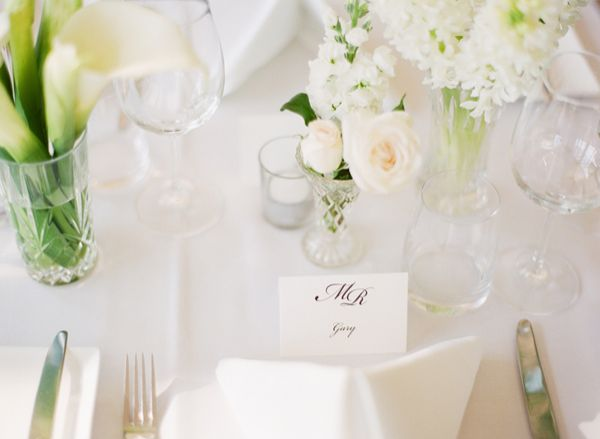 Elegant White Reception Centerpieces
