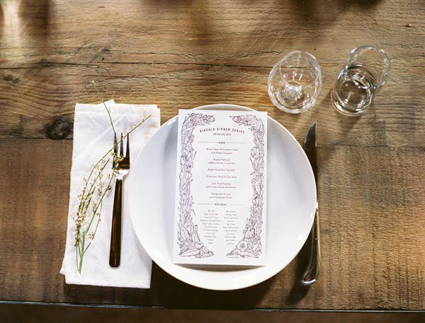 Simple Garnish Place Setting Ideas Once Wed
