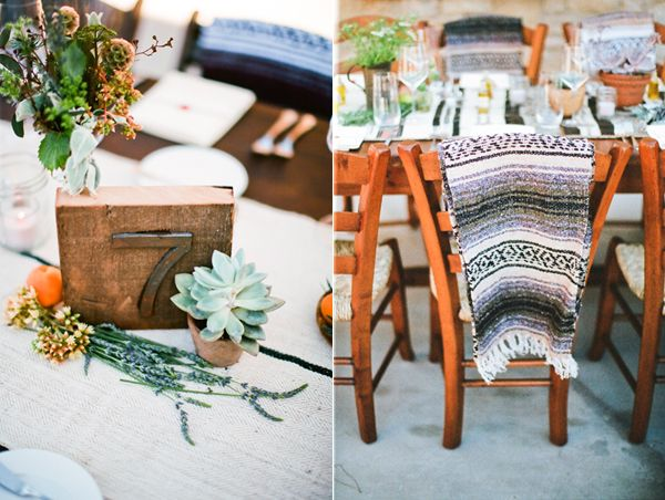 mexican-blanket-rustic-wedding-decor-table-number