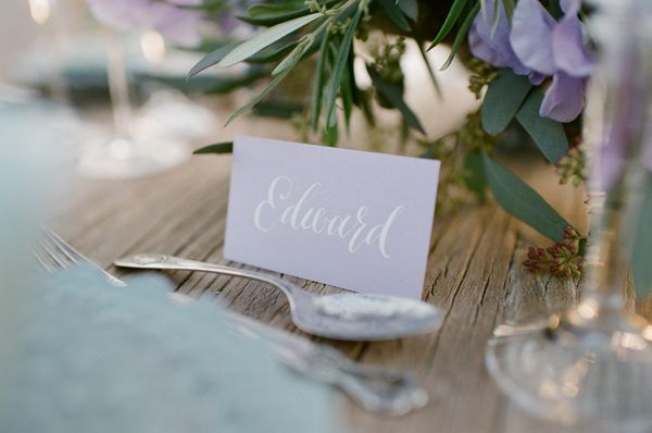 Purple Wedding Calligraphy