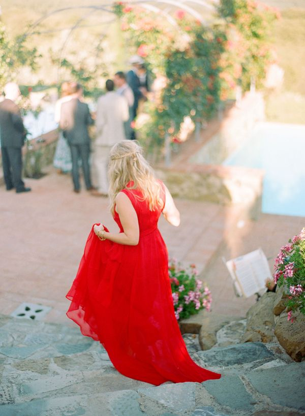 red-bridesmaid