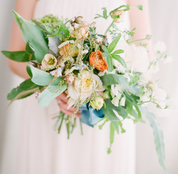 An unruly tropical spring bouquet once wed for Wedding flowers ideas pictures