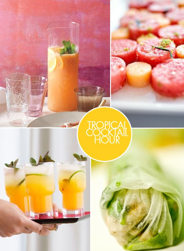 Tropical Wedding Cocktail Ideas