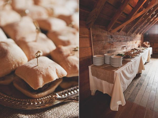 wedding-reception-buffet-barn-silver-platter