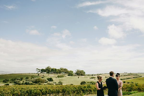 Australia Outdoor Winery Wedding Ceremony