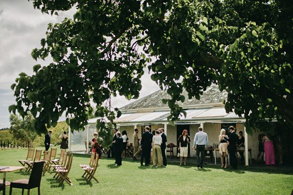 Australia Wedding Ceremony Outdoors Winery