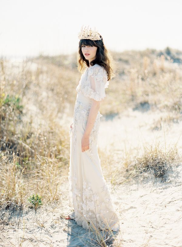 Claire Pettibone Flowers Wedding Dress