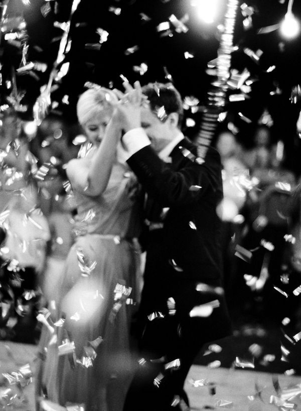 Confetti Bomb Wedding Dancing