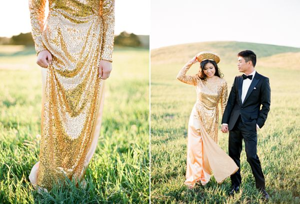 Gold Sparkly Wedding Dress