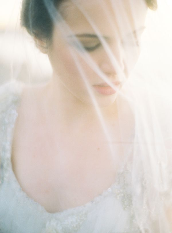 Oncewed Jose Villa Claire Pettibone Dress Veil Joy Thigpen