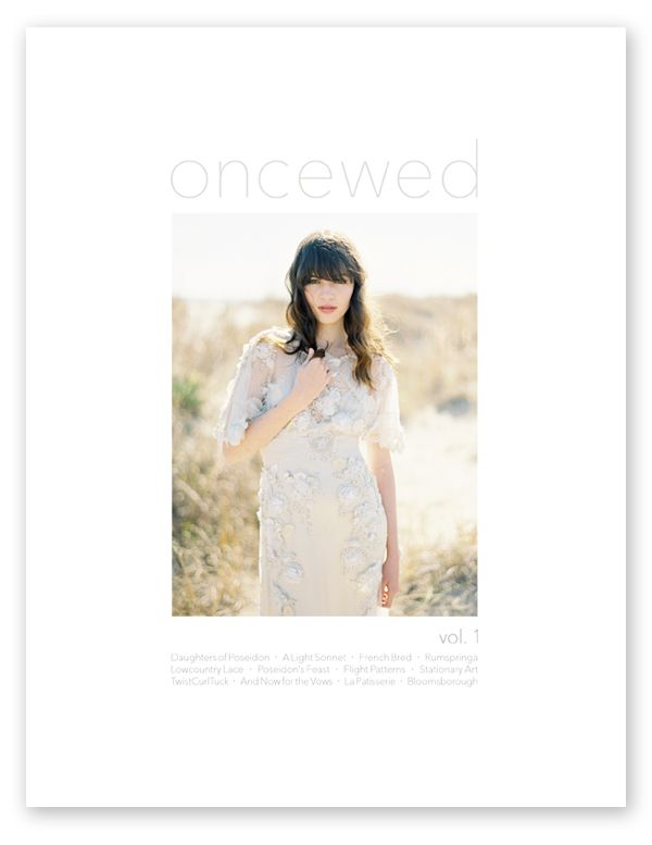 Poseidon wedding once wed oncewed print magazine cover vol 1 copy junglespirit Choice Image