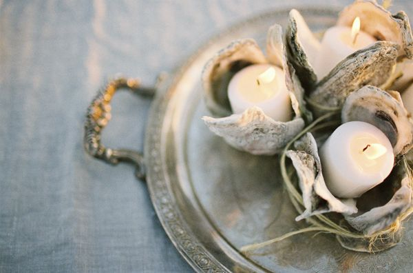 Oyster Shell Votives