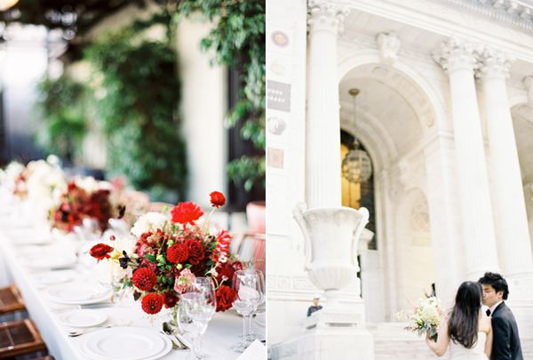 Red And Pink Wedding Floral Centerpieces