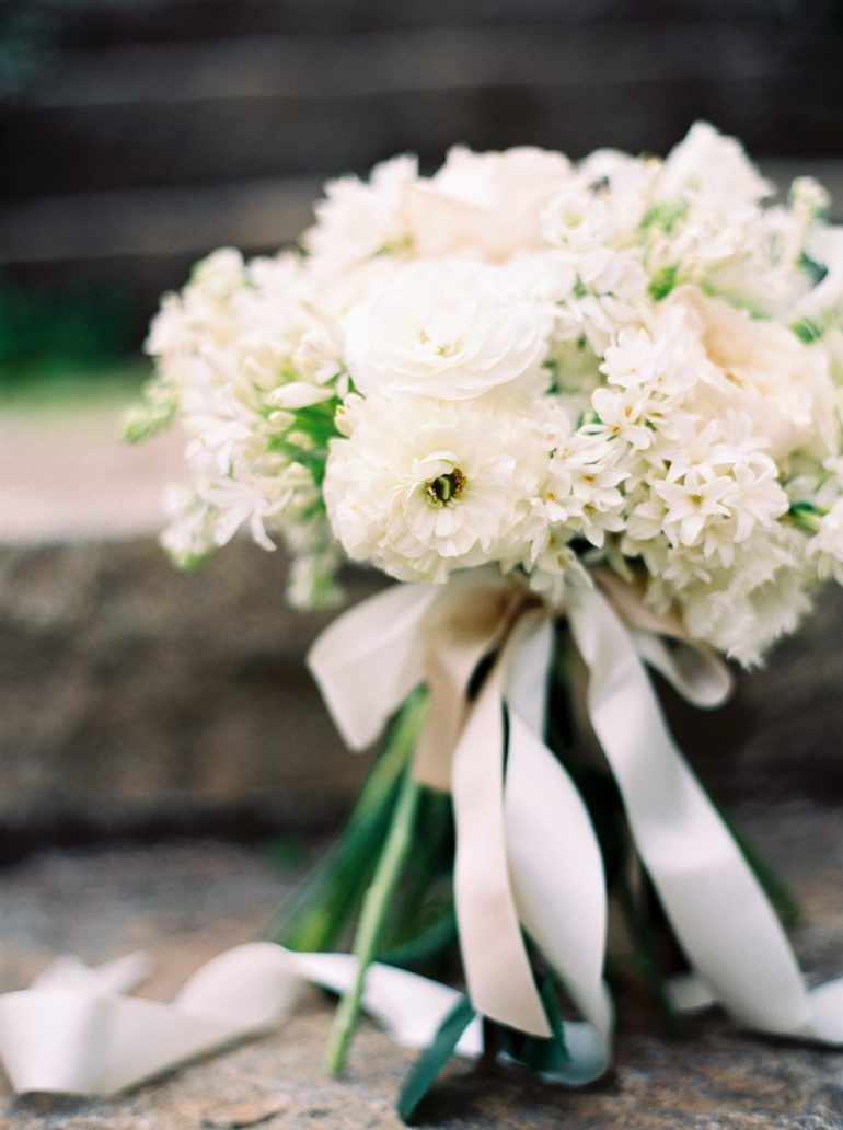 Spring White Wedding Bridal Bouquet