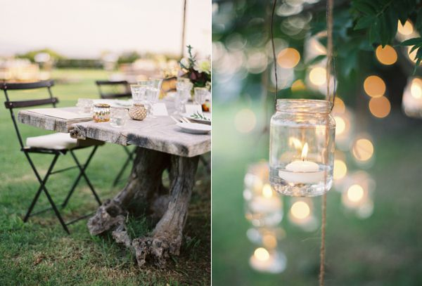 Tree Stump Table Wedding Reception