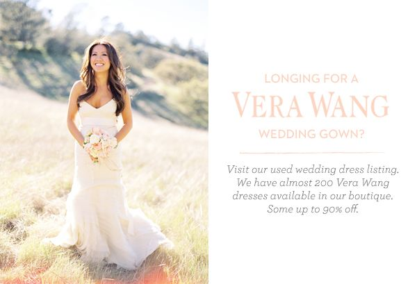 Used Vera Wang Wedding Dresses - Once Wed