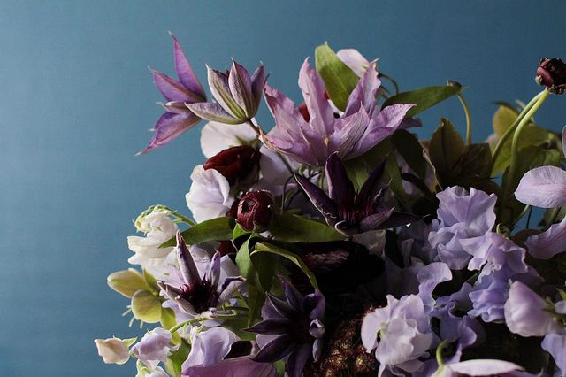 Purple Wedding Flowers and Ideas Velvet Wedding Flower Ideas Centerpieces
