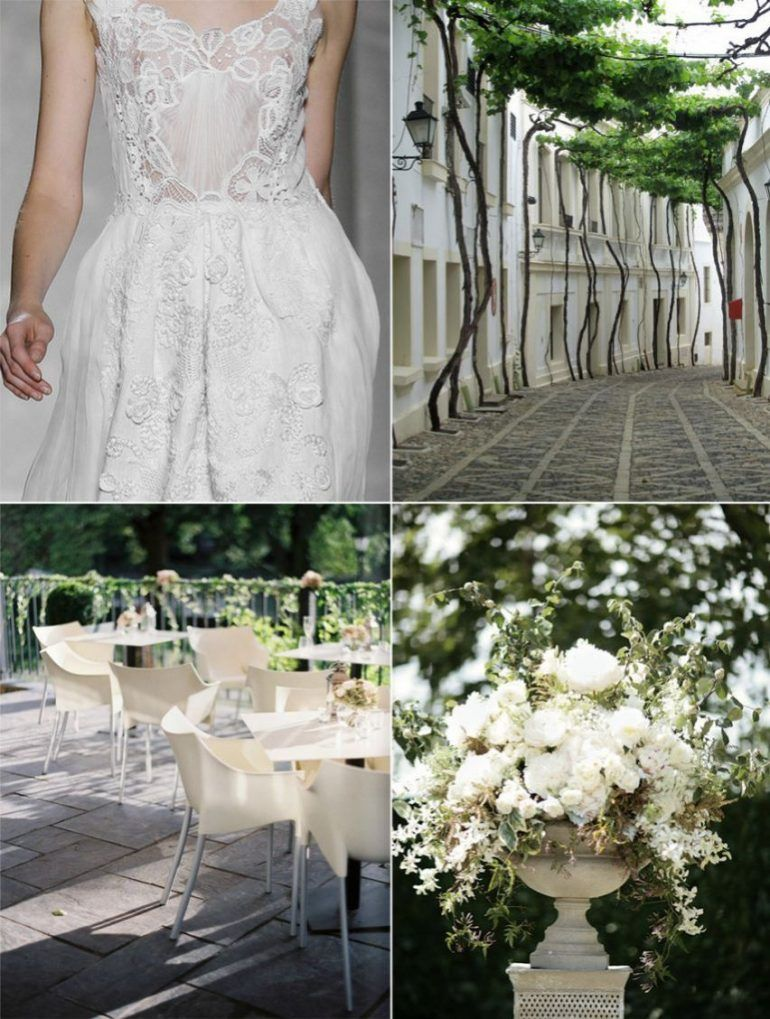 White Lace Spring Summer Wedding