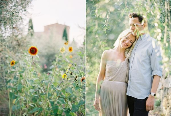 Engagement Shoot Jose Villa Couple Neutral Italy Sunflower