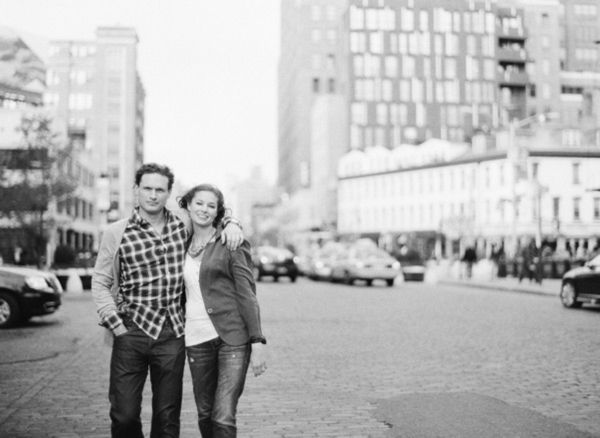 West Village Engagement in the Springtime
