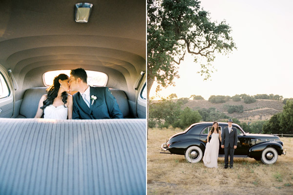 bride-groom-car-kiss-vineyard
