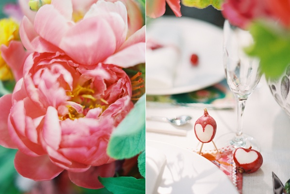 Bright Pink Peony Wedding Reception Centerpiece Diy Ideas Radish Table Decoration